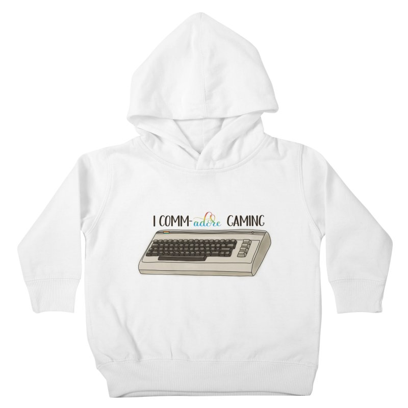 Comm-adore Gaming Kids Toddler Pullover Hoody by Panda Grove Studio's Artist Shop