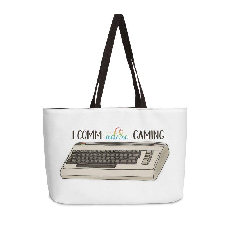 Comm-adore Gaming Accessories Weekender Bag Bag by Panda Grove Studio's Artist Shop