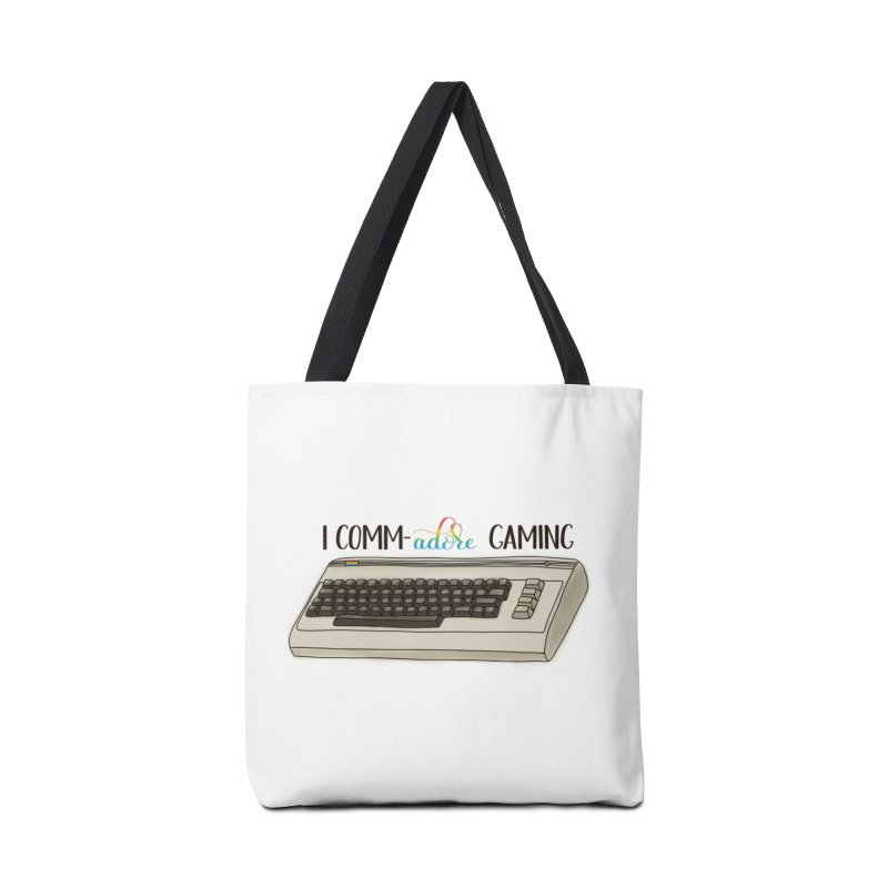 Comm-adore Gaming Accessories Tote Bag Bag by Panda Grove Studio's Artist Shop