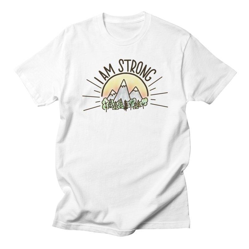 I am Strong Men's T-Shirt by Panda Grove Studio's Artist Shop