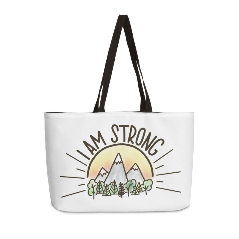 I am Strong Accessories Weekender Bag Bag by Panda Grove Studio's Artist Shop