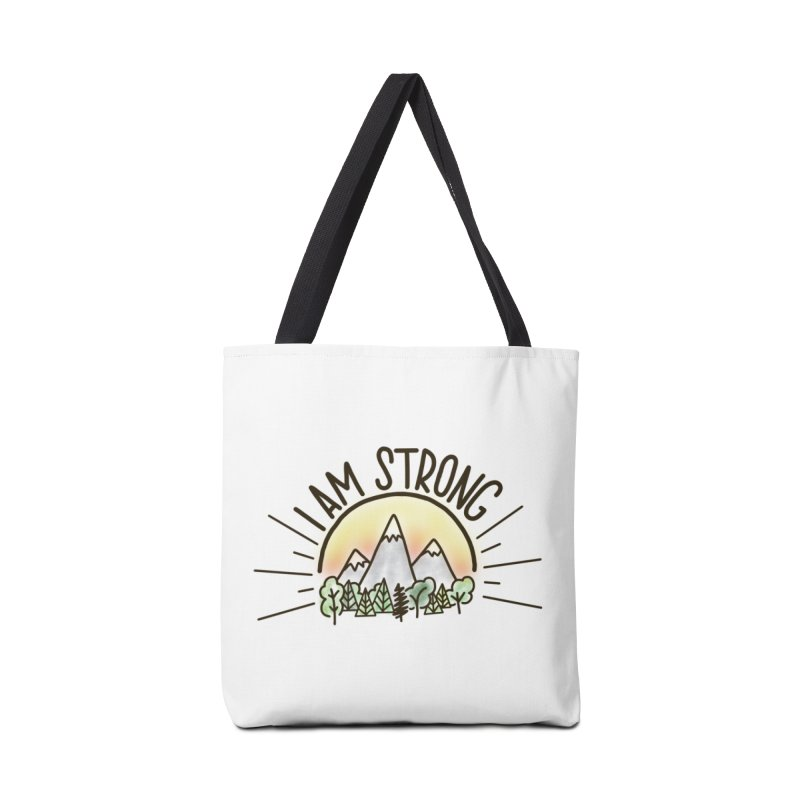 I am Strong Accessories Tote Bag Bag by Panda Grove Studio's Artist Shop