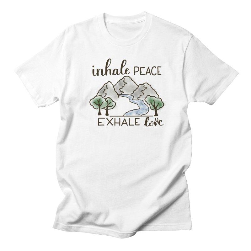 Inhale Peace Exhale Love Men's T-Shirt by Panda Grove Studio's Artist Shop