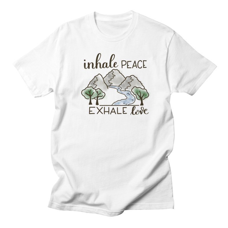 Inhale Peace Exhale Love Men's Regular T-Shirt by Panda Grove Studio's Artist Shop