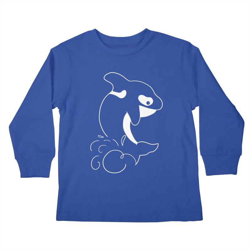 Orca Outreach Kids Longsleeve T-Shirt by Panda Grove Studio's Artist Shop