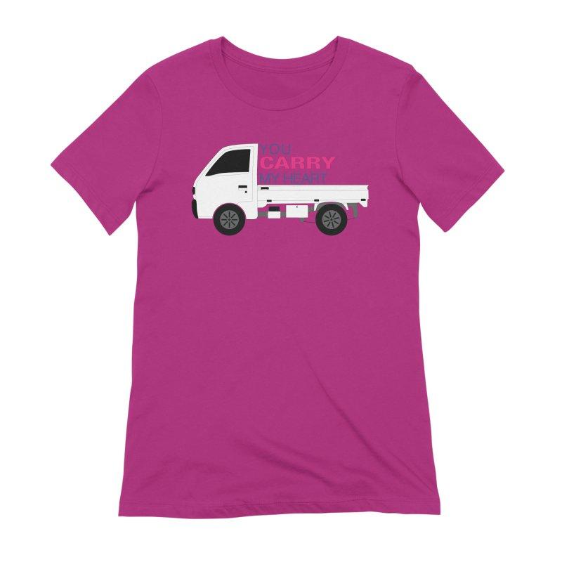 You Carry My Heart Women's Extra Soft T-Shirt by Panda Grove Studio's Artist Shop