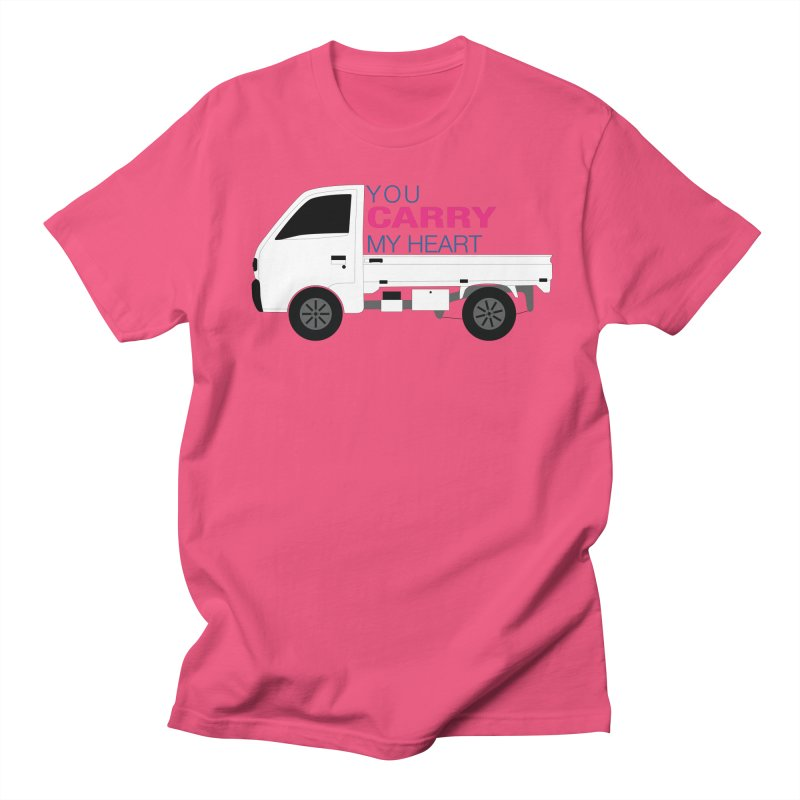 You Carry My Heart Women's Regular Unisex T-Shirt by Panda Grove Studio's Artist Shop