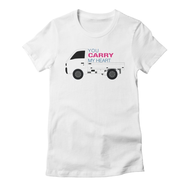 You Carry My Heart Women's Fitted T-Shirt by Panda Grove Studio's Artist Shop