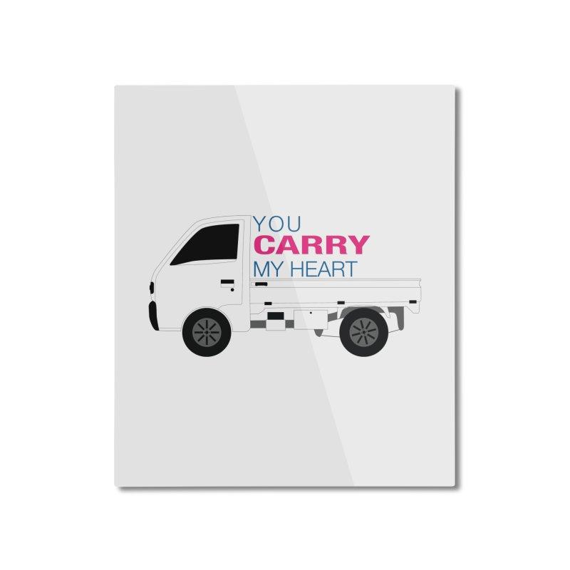 You Carry My Heart Home Mounted Aluminum Print by Panda Grove Studio's Artist Shop