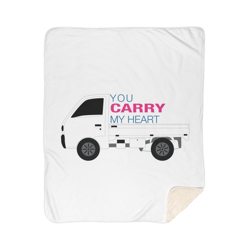 You Carry My Heart Home Sherpa Blanket Blanket by Panda Grove Studio's Artist Shop