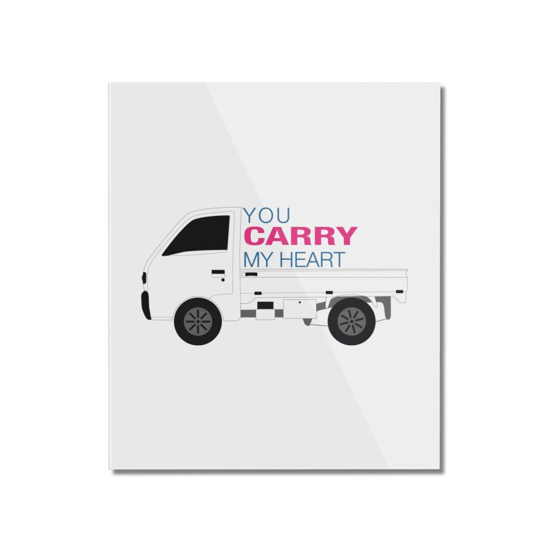 You Carry My Heart Home Mounted Acrylic Print by Panda Grove Studio's Artist Shop