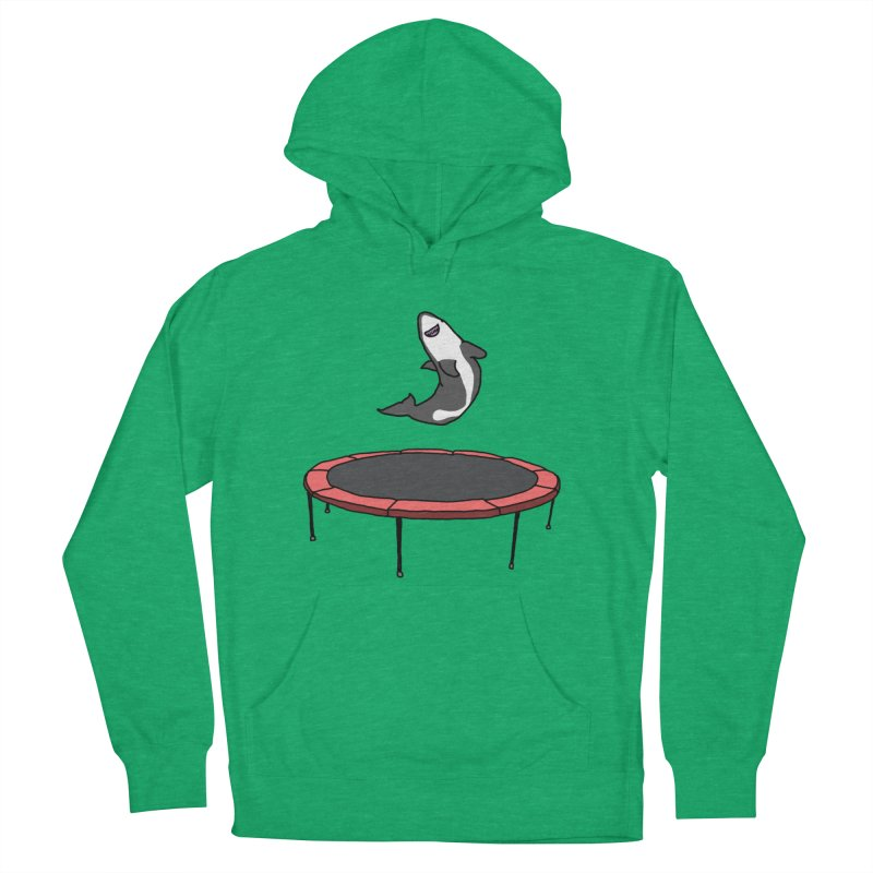 Shark On A Trampoline Men's French Terry Pullover Hoody by panelomatic's Artist Shop