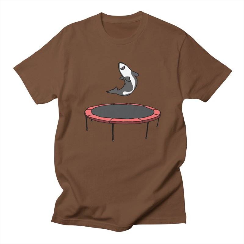Shark On A Trampoline Men's Regular T-Shirt by panelomatic's Artist Shop