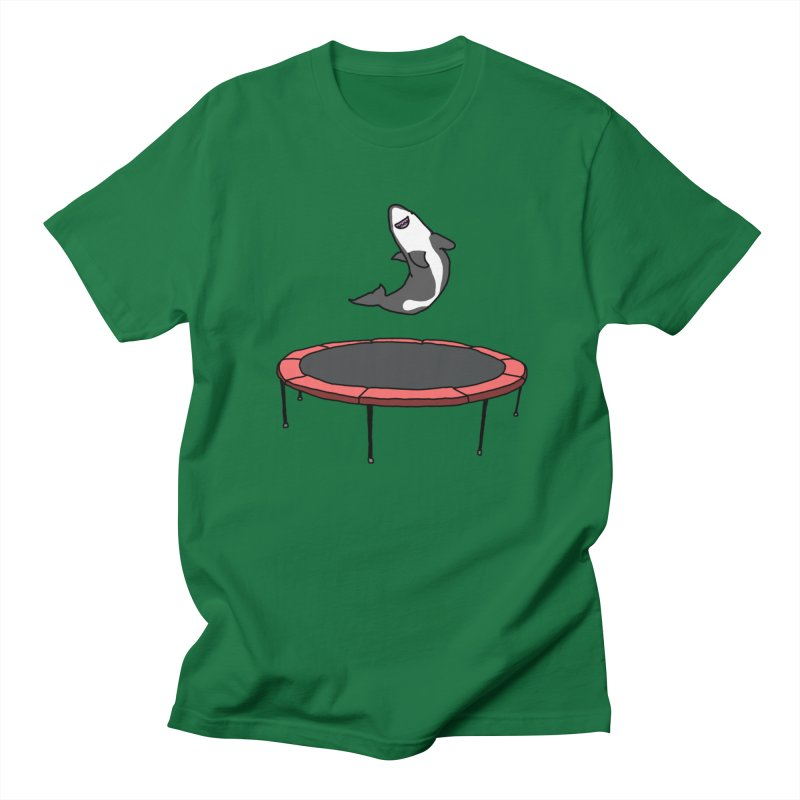Shark On A Trampoline Men's T-Shirt by panelomatic's Artist Shop