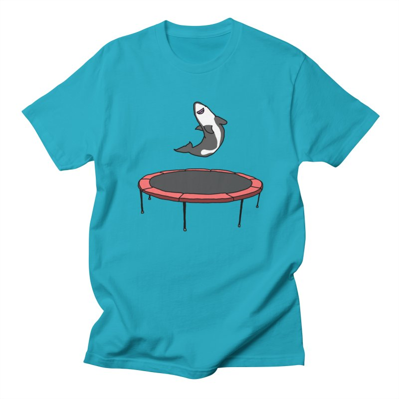 Shark On A Trampoline Women's Unisex T-Shirt by panelomatic's Artist Shop