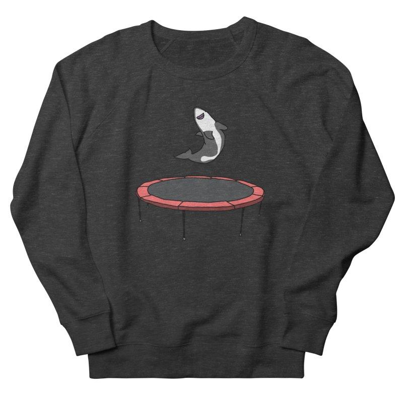 Shark On A Trampoline Women's Sweatshirt by panelomatic's Artist Shop