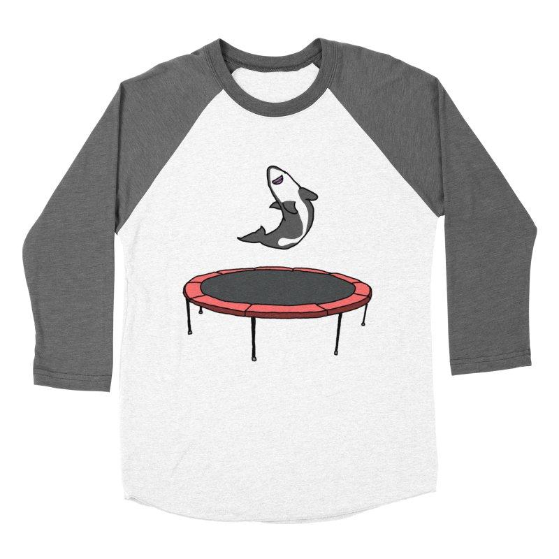 Shark On A Trampoline Women's Baseball Triblend Longsleeve T-Shirt by panelomatic's Artist Shop