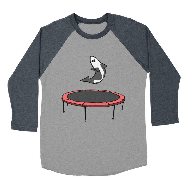 Shark On A Trampoline Women's Baseball Triblend T-Shirt by panelomatic's Artist Shop