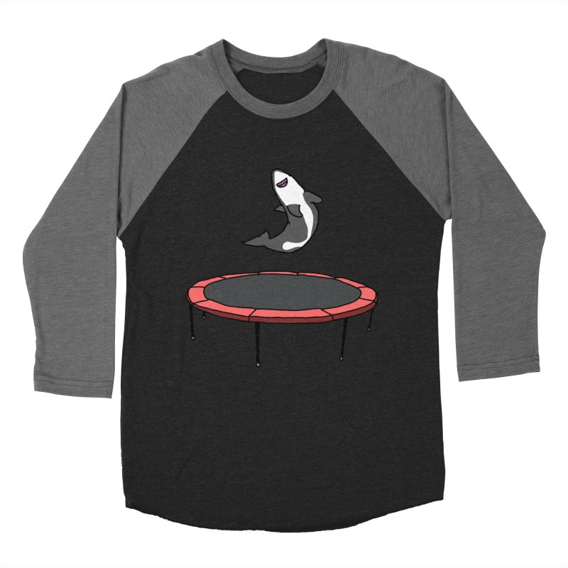 Shark On A Trampoline Men's Baseball Triblend T-Shirt by panelomatic's Artist Shop