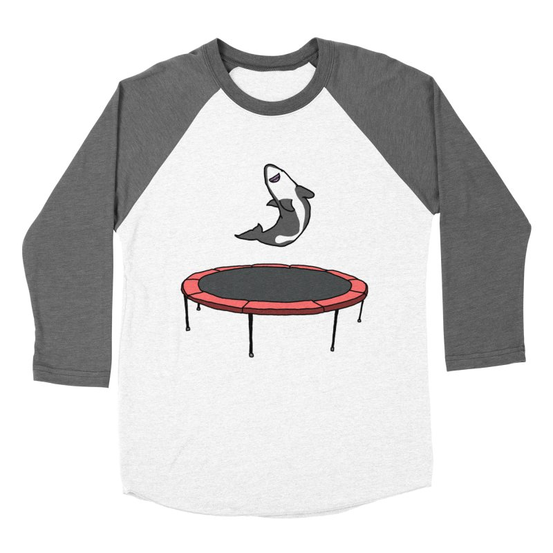 Shark On A Trampoline Men's Baseball Triblend T-Shirt by panelomatic's Artist Shop