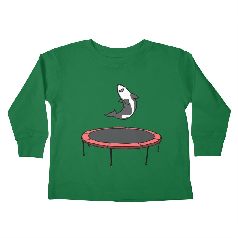 Shark On A Trampoline Kids Toddler Longsleeve T-Shirt by panelomatic's Artist Shop