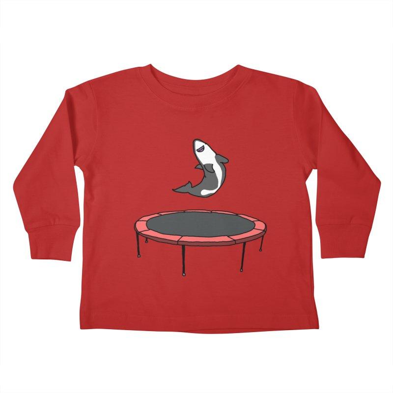 Shark On A Trampoline Kids Toddler Longsleeve T-Shirt by panelomatic's Artist Shop