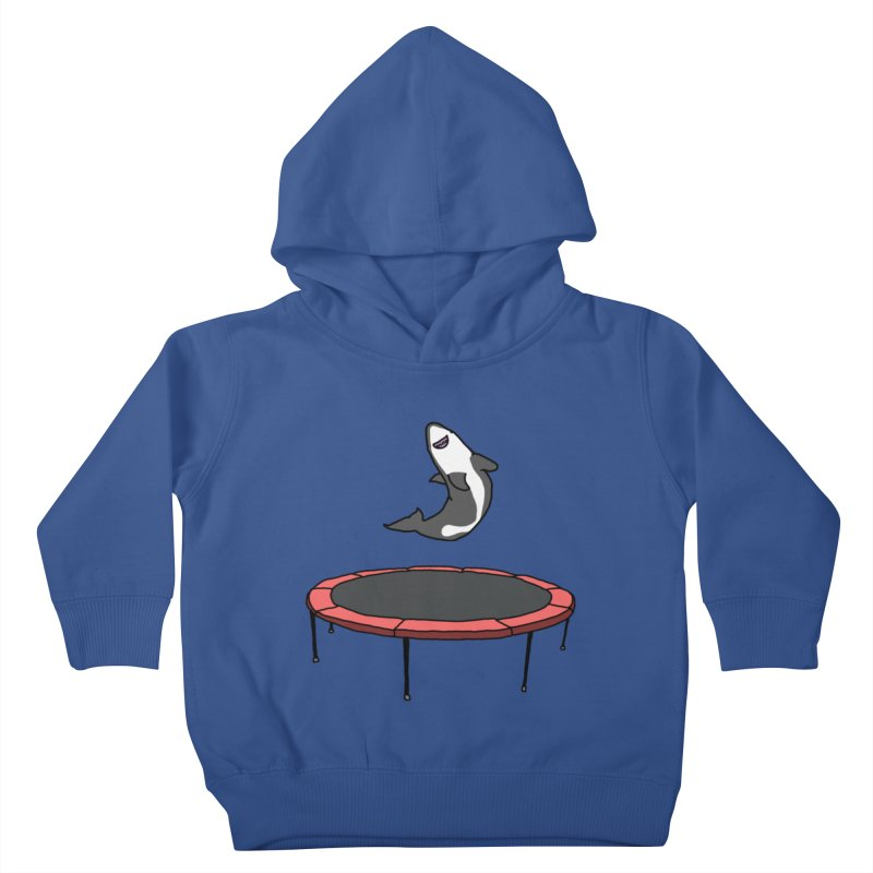 Shark On A Trampoline Kids Toddler Pullover Hoody by panelomatic's Artist Shop