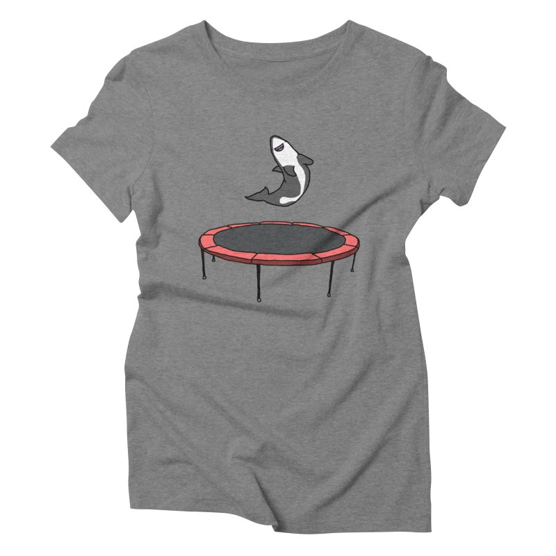 Shark On A Trampoline Women's Triblend T-Shirt by panelomatic's Artist Shop