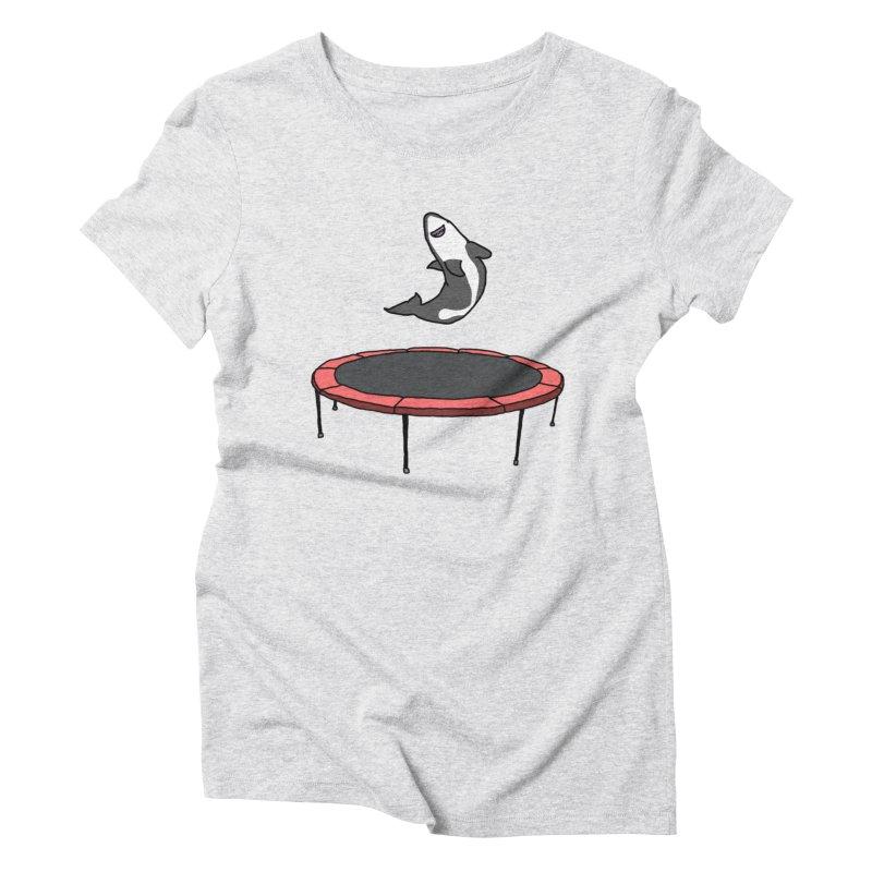 Shark On A Trampoline Women's Triblend T-Shirt by panelomatic's Artist Shop