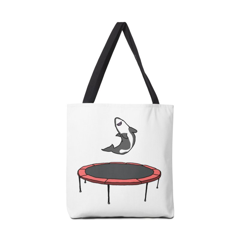 Shark On A Trampoline Accessories Bag by panelomatic's Artist Shop