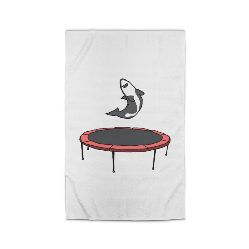 Shark On A Trampoline Home Rug by panelomatic's Artist Shop