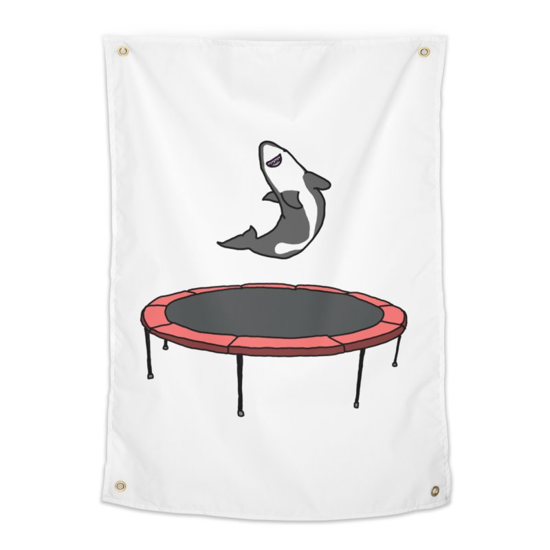Shark On A Trampoline Home Tapestry by panelomatic's Artist Shop