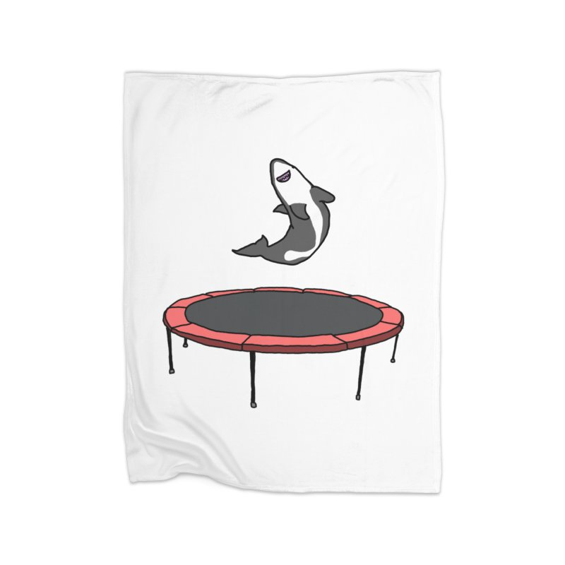 Shark On A Trampoline Home Blanket by panelomatic's Artist Shop