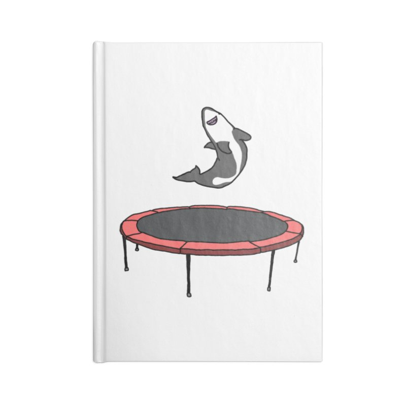 Shark On A Trampoline Accessories Notebook by panelomatic's Artist Shop
