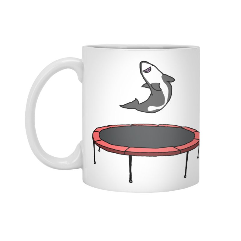 Shark On A Trampoline Accessories Mug by panelomatic's Artist Shop