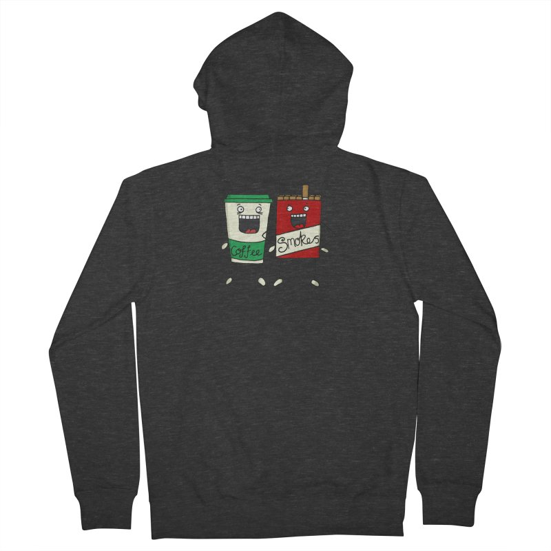 Addiction Friends Men's French Terry Zip-Up Hoody by panelomatic's Artist Shop