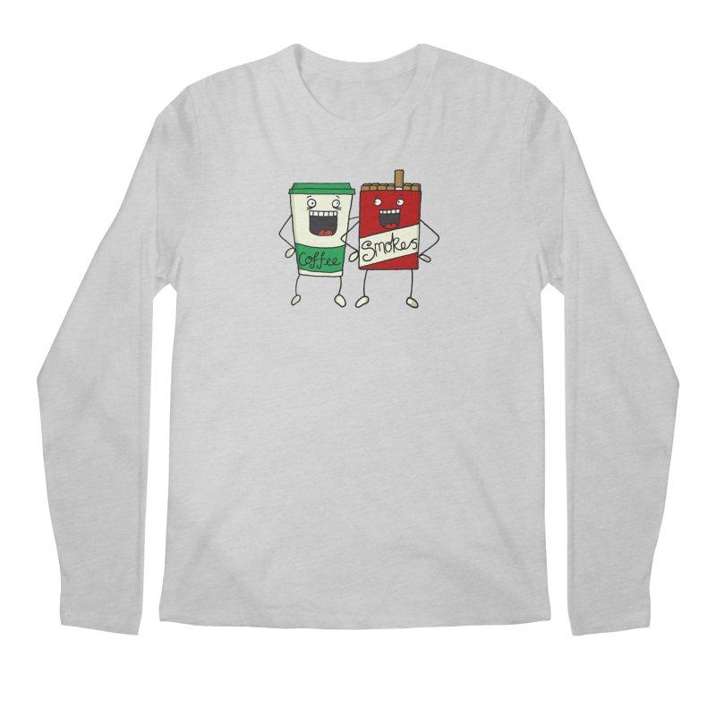 Addiction Friends Men's Regular Longsleeve T-Shirt by panelomatic's Artist Shop
