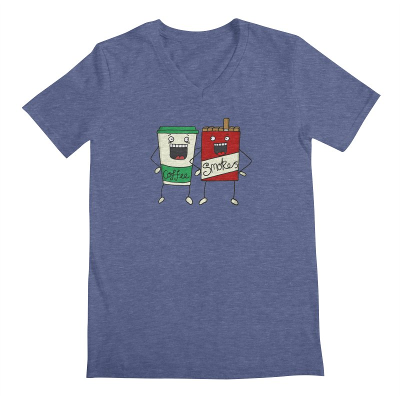 Addiction Friends Men's V-Neck by panelomatic's Artist Shop