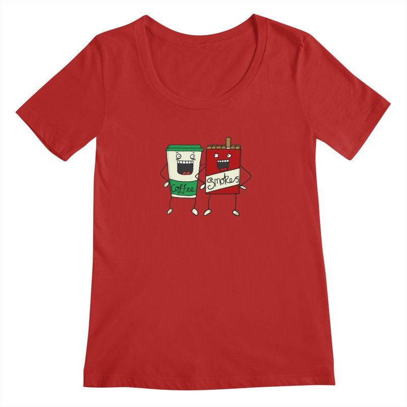 Addiction Friends Women's Scoopneck by panelomatic's Artist Shop