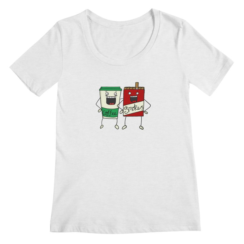 Addiction Friends Women's Regular Scoop Neck by panelomatic's Artist Shop