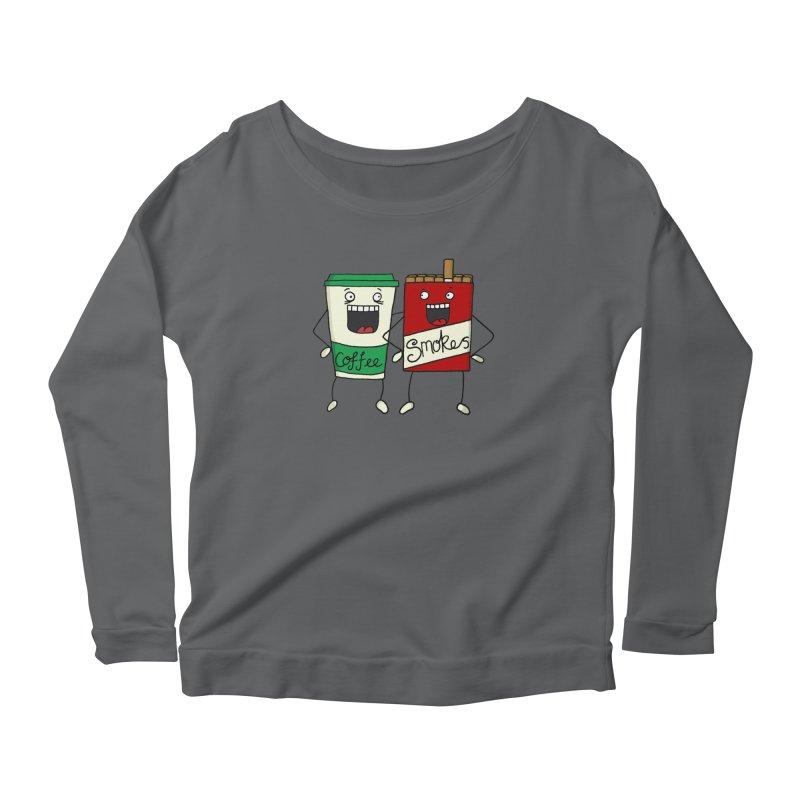 Addiction Friends Women's Scoop Neck Longsleeve T-Shirt by panelomatic's Artist Shop