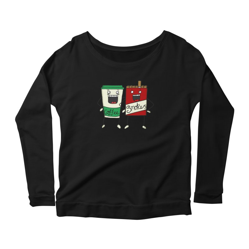 Addiction Friends Women's Longsleeve Scoopneck  by panelomatic's Artist Shop