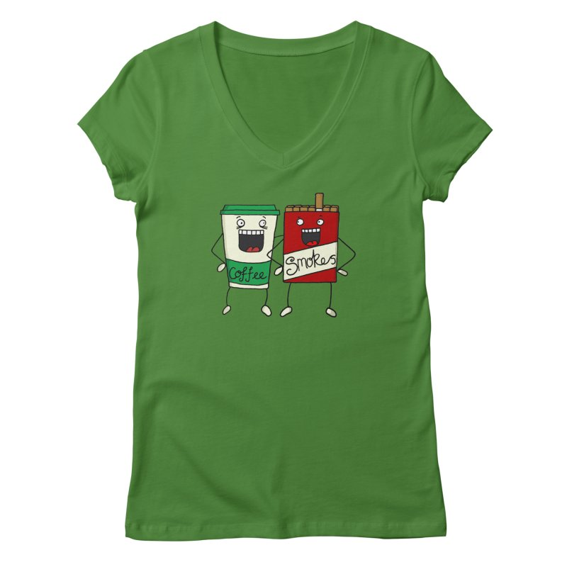 Addiction Friends Women's V-Neck by panelomatic's Artist Shop