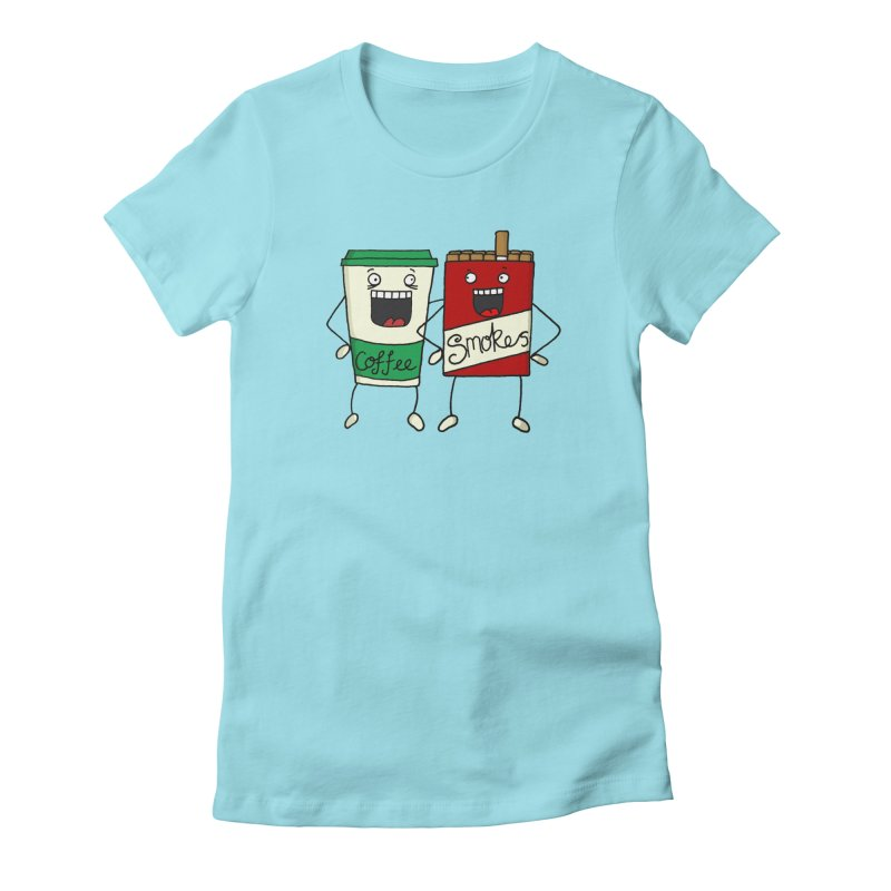 Addiction Friends Women's Fitted T-Shirt by panelomatic's Artist Shop