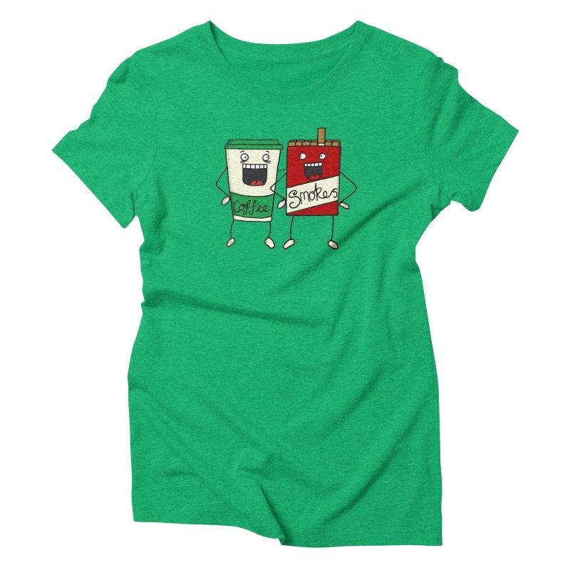 Addiction Friends Women's Triblend T-Shirt by panelomatic's Artist Shop