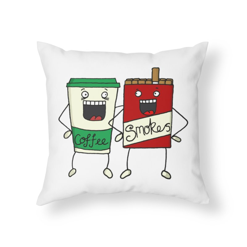Addiction Friends Home Throw Pillow by panelomatic's Artist Shop