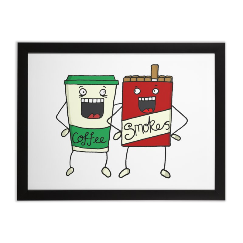 Addiction Friends Home Framed Fine Art Print by panelomatic's Artist Shop