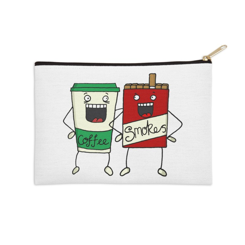 Addiction Friends Accessories Zip Pouch by panelomatic's Artist Shop