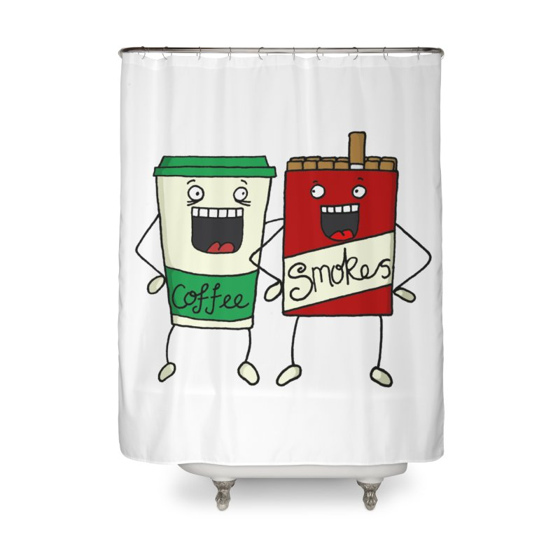 Addiction Friends Home Shower Curtain by panelomatic's Artist Shop