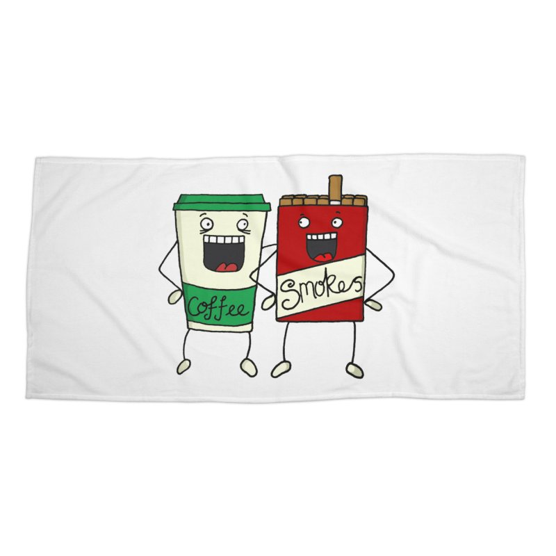 Addiction Friends Accessories Beach Towel by panelomatic's Artist Shop